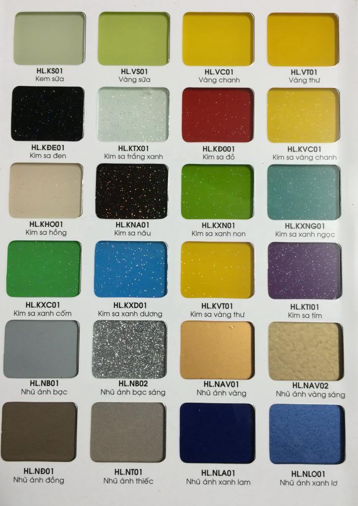 Kính màu ốp bếp rất đa dạng màu sắc