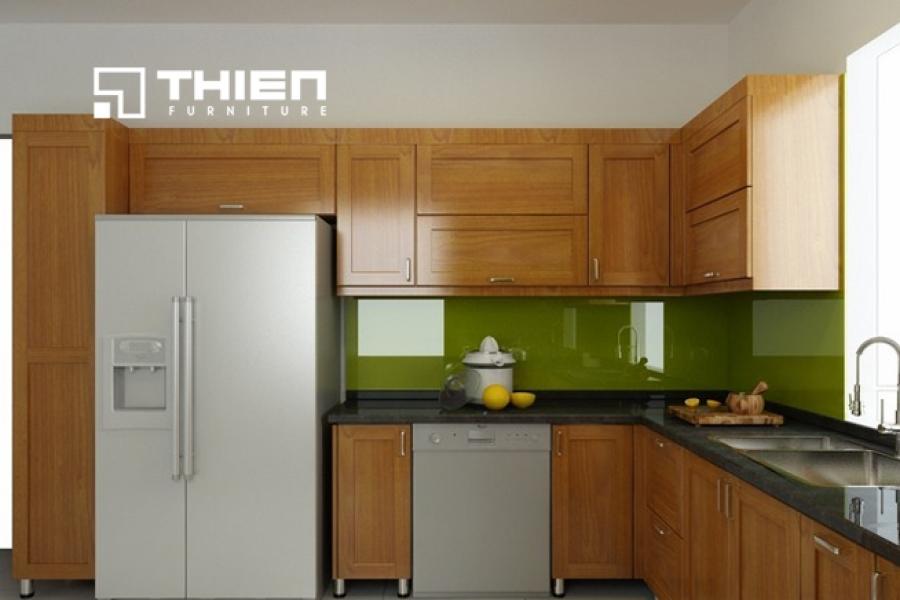 Tủ bếp gỗ tự nhiên - TN03