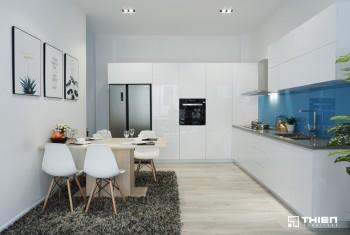 Tủ bếp Acrylic ở showroom - Thiên Furniture